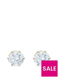 love-gold-9-carat-yellow-gold-6mm-cubic-zirconia-stud-earrings