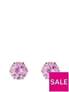 love-gold-9-carat-yellow-gold-6mm-cubic-zirconia-stud-earrings