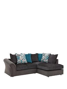 Celina Right Hand Compact Corner Chaise Sofa