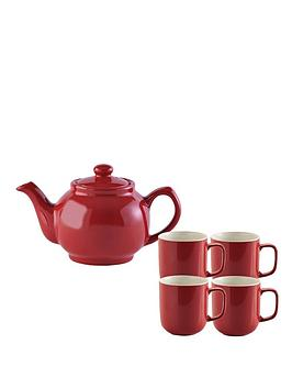 price-kensington-6-cup-teapot-and-4-mugs-red