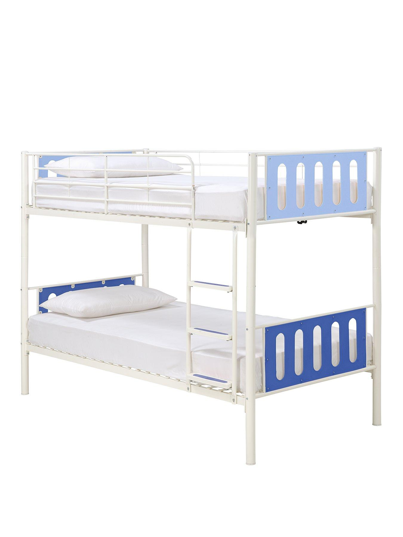 kidspace delta bunk bed frame with optional mattresses