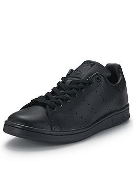 adidas Originals Stan Smith Leather Trainers In Black Black