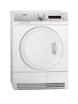 aeg-t75380ah2-8kg-load-heat-pump-condenser-sensor-dryer-white