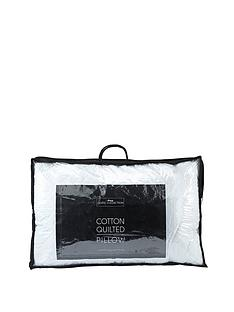 Hotel Collection Cotton Quilted Like Down Single Walled Pillow