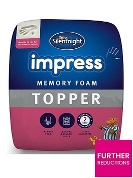 silentnight-impress-5cm-memory-foam-mattress-topper