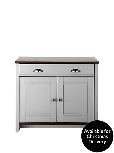 consort-tivoli-ready-assembled-compact-grey-sideboard-with-walnut-effect-top