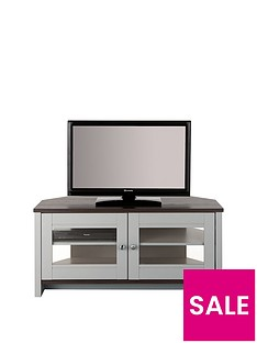 Consort Tivoli Ready Assembled Corner TV Unit - fits up to 46 inch TV