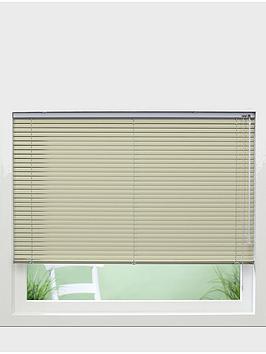 Photo of Made to measure 25 mm aluminium venetian blinds - sand