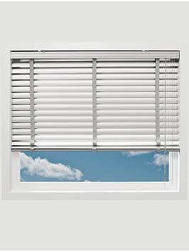 Photo of Made to measure 50 mm aluminium venetian blinds - white
