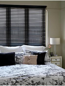 Photo of Made to measure 50 mm wooden venetian blinds - black