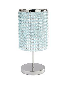 Crystal style table lamp duck egg very aloadofball Choice Image