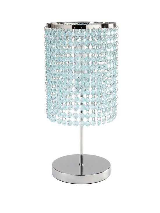 Crystal style table lamp duck egg very aloadofball Images