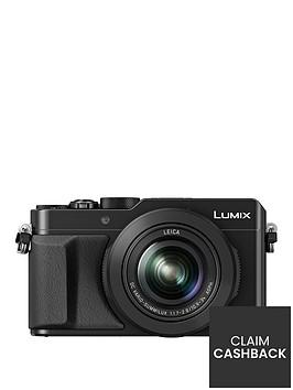 panasonic-lumix-dmc-lx100-ebknbspcompact-digital-camera-4k-ultra-hd-128-megapixel-31x-optical-zoom-evf-3-inchnbsplcdnbspscreen-black-pound50-cash-back-available