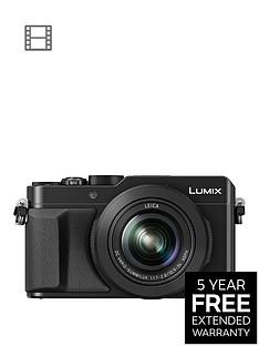 panasonic-lumix-dmc-lx100-ebknbspcompact-digital-camera-4k-ultra-hd-128-megapixel-31x-optical-zoom-evf-3-inchnbsplcdnbspscreen-blacknbspwith-extended-5-year-warranty-available