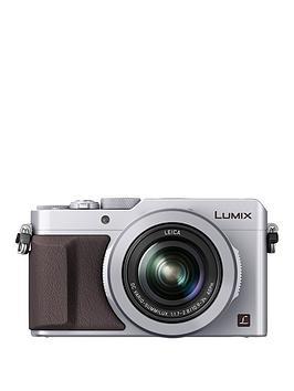 panasonic-lumix-dmc-lx100-ebs-compact-digital-camera-4k-ultra-hd-128-megapixel-31x-optical-zoom-evf-3-inchnbsplcdnbspscreennbsp--silvernbsp