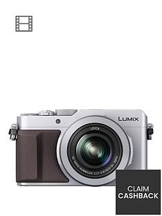 panasonic-lumix-dmc-lx100-ebs-compact-digital-camera-4k-ultra-hd-128-megapixel-31x-optical-zoom-evf-3-inchnbsplcdnbspscreennbsp--silvernbsppound50-cash-back-available