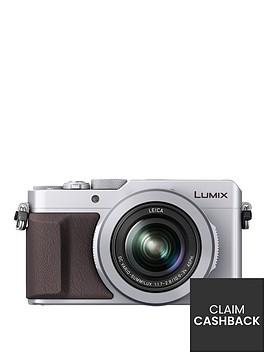 panasonic-lumix-dmc-lx100-ebs-compact-digital-camera-4k-ultra-hd-128-megapixel-31x-optical-zoom-evf-3-inchnbsplcdnbspscreennbsp--silvernbspup-to-pound50-cashbacknbsp