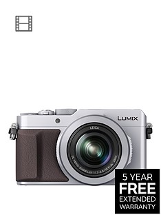 panasonic-lumix-dmc-lx100-ebs-compact-digital-camera-4k-ultra-hd-128-megapixel-31x-optical-zoom-evf-3-inchnbsplcdnbspscreennbsp--silvernbspwith-extended-5-year-warranty-available