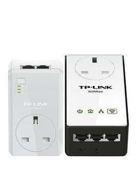 tp-link-500m-powerline-with-300m-wi-fi-and-passthrough-3-lan-ports