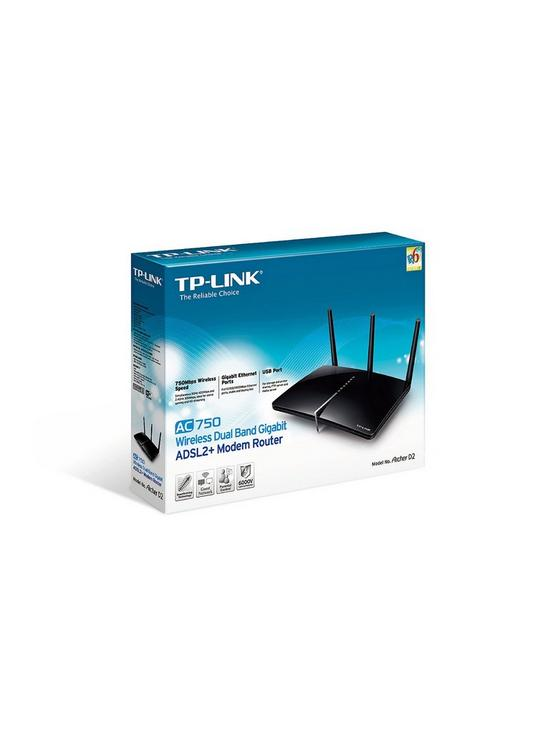 TP Link AC750 Dual Band Gigabit Router (for ADSL2+) | very.co.uk