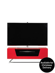 Alphason Chromium TV Stand - fits up to 46 inch TV - Red