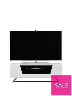 Alphason Chromium TV Stand - fits up to 46 inch TV - White