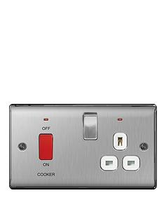 british-general-brushed-steel-13a-fused-connection-unit-switched