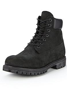 best service 6bc57 fc1f2 Timberland Premium 6 Inch Boots - Black