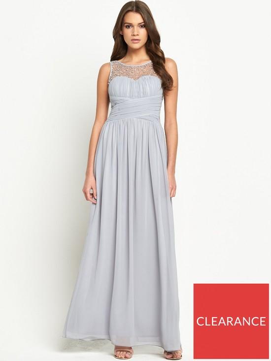 a15110d6f1f Little Mistress Embellished Mesh Maxi Dress