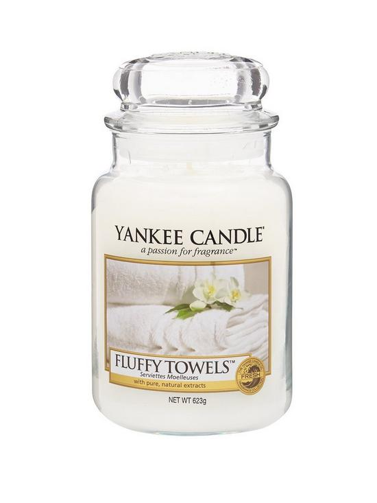 Yankee Candle Large Jar - Fluffy Towels | very.co.uk