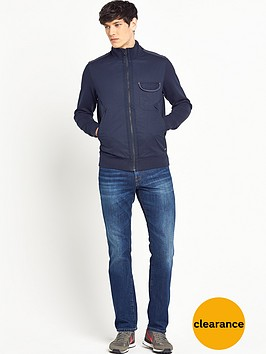 boss-orange-mens-jersey-jacket-with-cross-over-chambray-trim