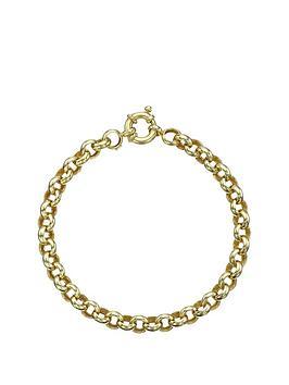 love-gold-9-carat-yellow-gold-round-belcher-bracelet