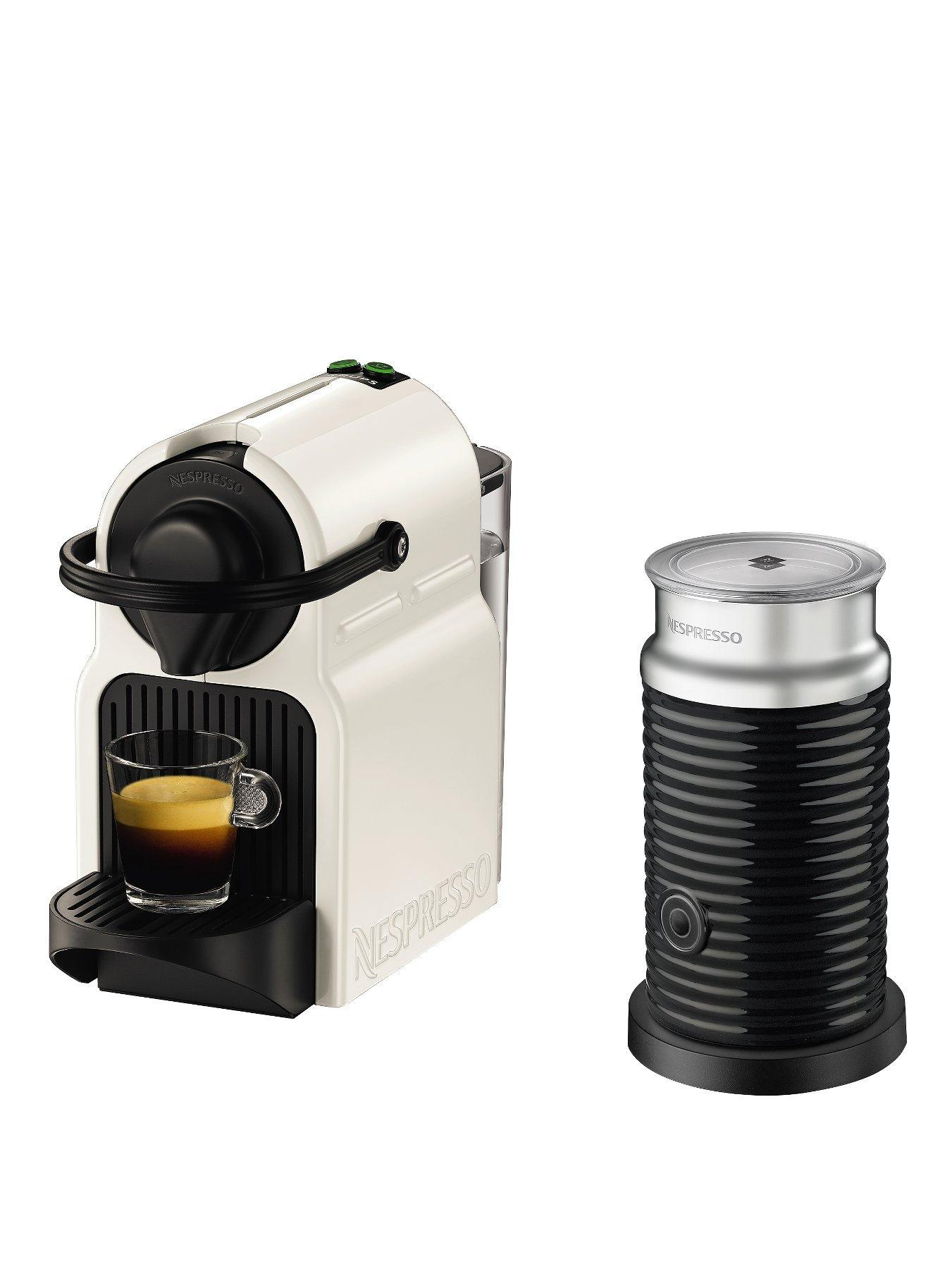 Krups Coffee Maker And Frother : Nespresso Inissia XN101140 Coffee Machine with Milk Frother by Krups - White very.co.uk