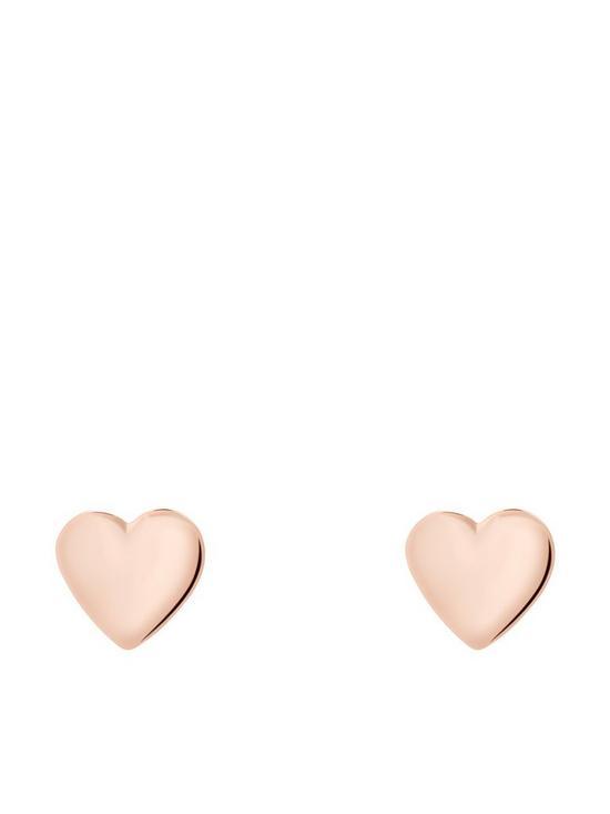 367703ddaa Ted Baker Heart Stud Earrings - Rose Gold