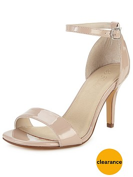 So Fabulous Gabby Heel Sandals Extra Wide Fit - Nude | very.co.uk