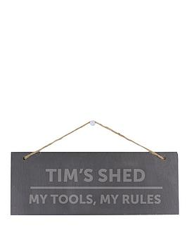 personalised-slate-shed-sign