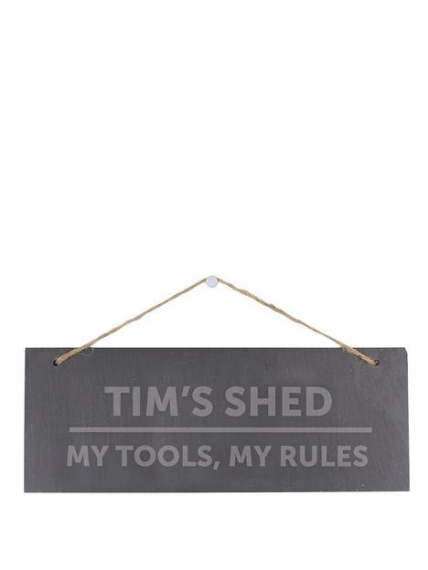 the-personalised-memento-company-personalised-slate-shed-sign