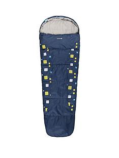 trespass-bunka-junior-printed-sleeping-bag-navy