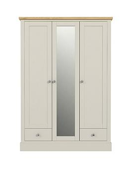 florence-3-door-2-drawer-mirrored-wardrobe