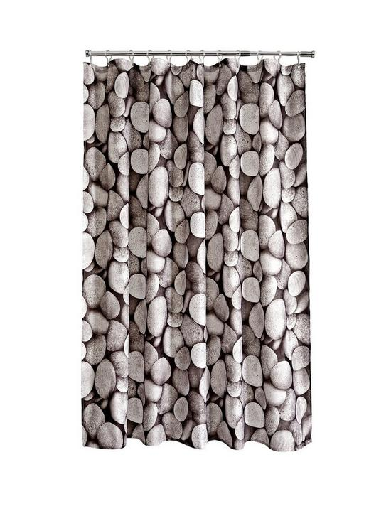 AQUALONA Pebbles Shower Curtain Multi