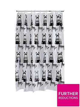 aqualona-zebra-shower-curtain-multi