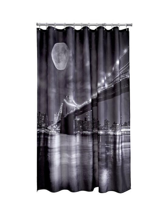AQUALONA Brooklyn Bridge Shower Curtain