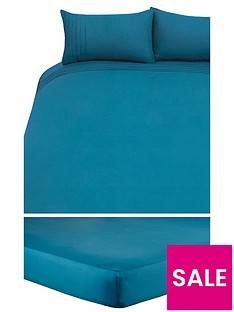 essentials-collection-plain-dyed-cover-duvet-set-with-free-sheet