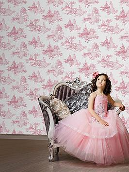 disney-princess-graham-brown-toile-wallpaper