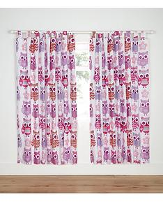 catherine-lansfield-lined-owl-curtains