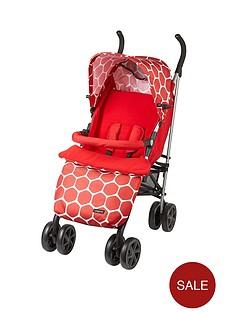 ladybird-stroller-with-footmuff-red