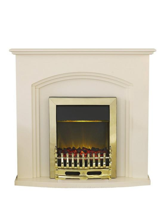 Pleasant Truro Electric Fireplace Suite With Brass Inset Fire Beutiful Home Inspiration Ommitmahrainfo