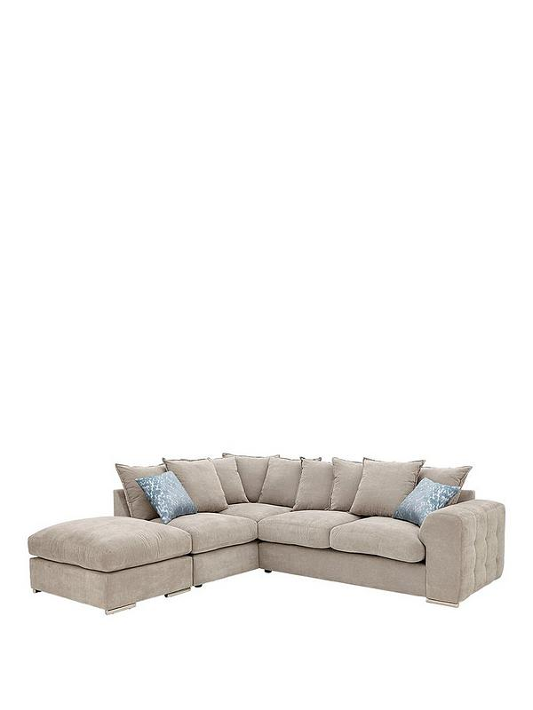 Awe Inspiring Sophia Left Hand Corner Chaise Sofa With Footstool Gmtry Best Dining Table And Chair Ideas Images Gmtryco