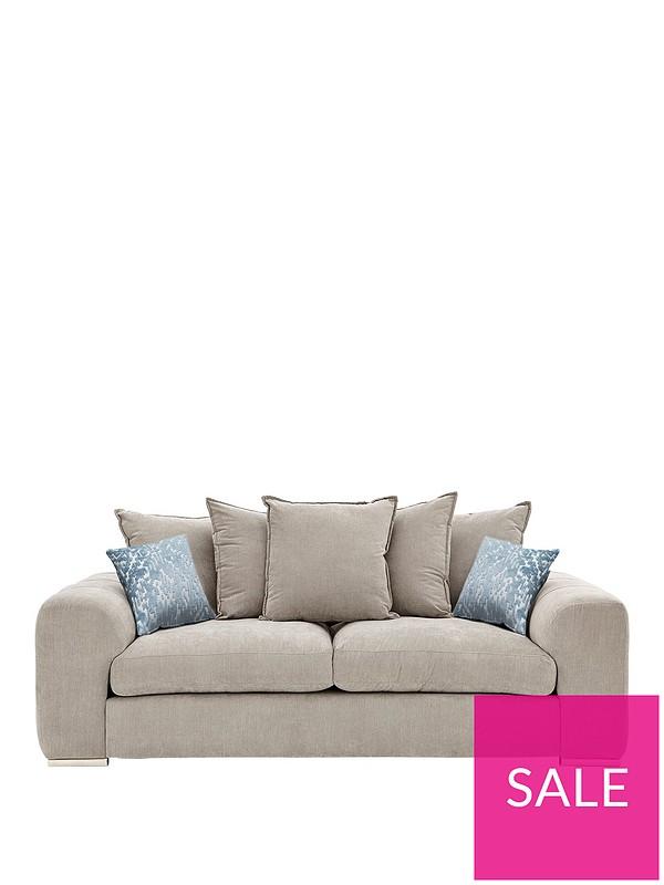 Sophia 3 Seater Fabric Sofa