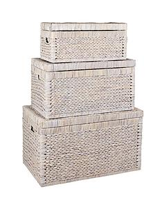 set-of-3-arrow-weave-wicker-storage-chestsnbsp--white